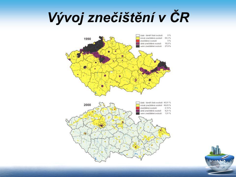 Vývoj znečištění v ČR