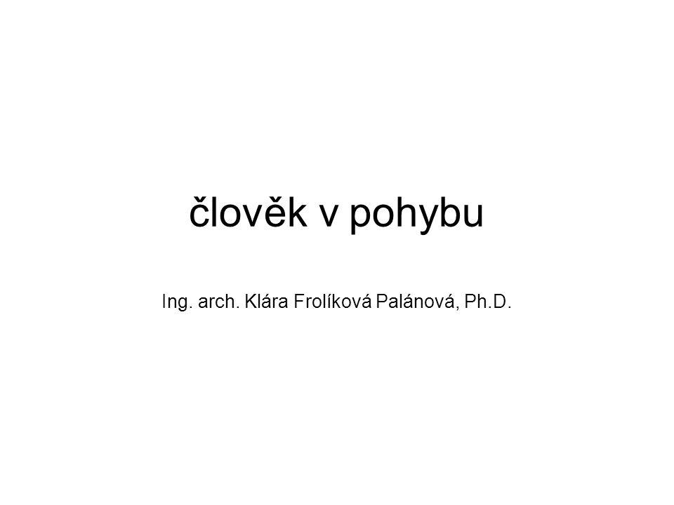 člověk v pohybu Ing. arch. Klára Frolíková Palánová, Ph.D.