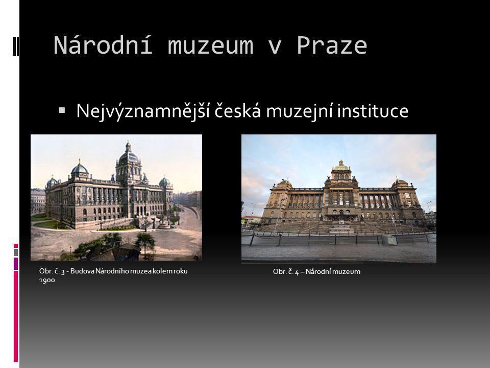 Národní muzeum v Praze  Nejvýznamnější česká muzejní instituce Obr.