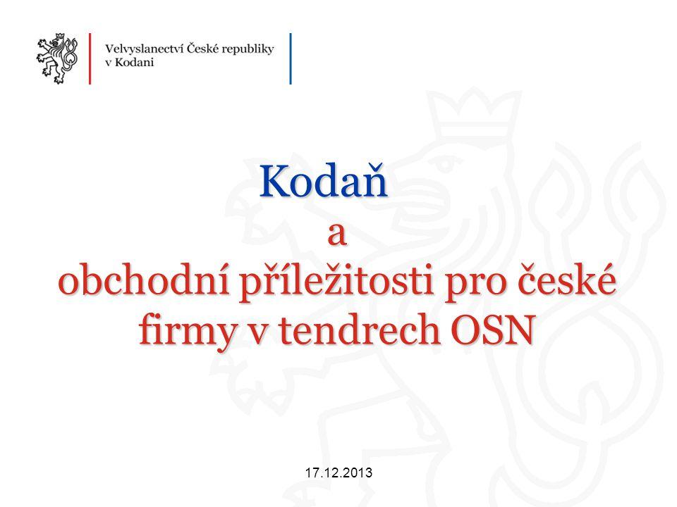 a obchodní příležitosti pro české firmy v tendrech OSN Kodaň 17.12.2013