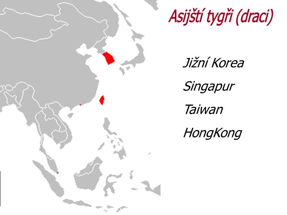 Jižní Korea Singapur Taiwan HongKong
