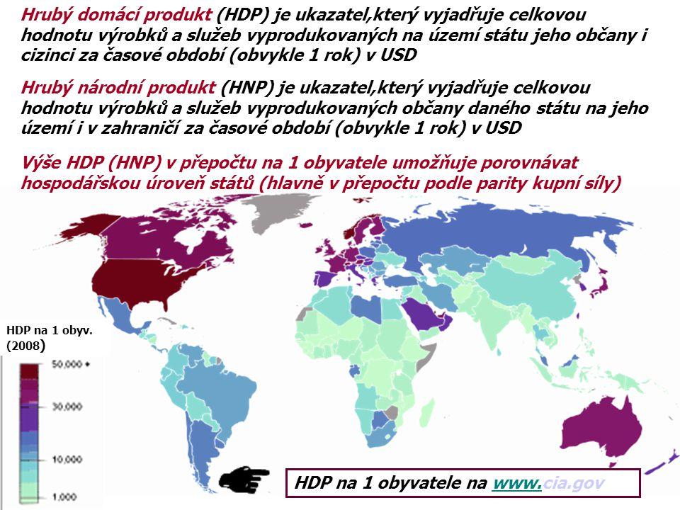 Hrubý domácí produkt (HDP) je ukazatel,který vyjadřuje celkovou hodnotu výrobků a služeb vyprodukovaných na území státu jeho občany i cizinci za časov