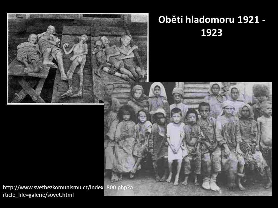 Oběti hladomoru 1921 - 1923 http://www.svetbezkomunismu.cz/index_800.php?a rticle_file=galerie/sovet.html