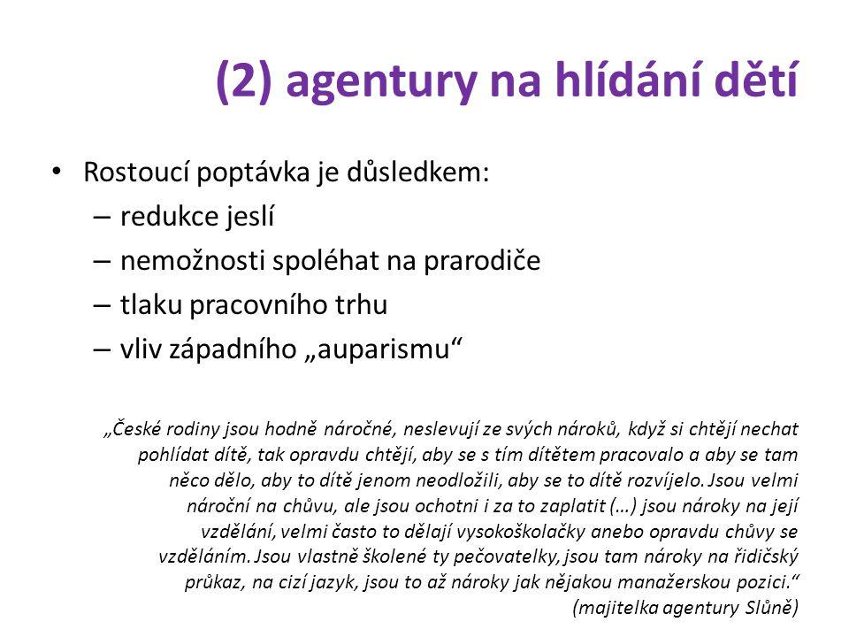 (2) agentury na hlídání dětí • Co nabízejí.