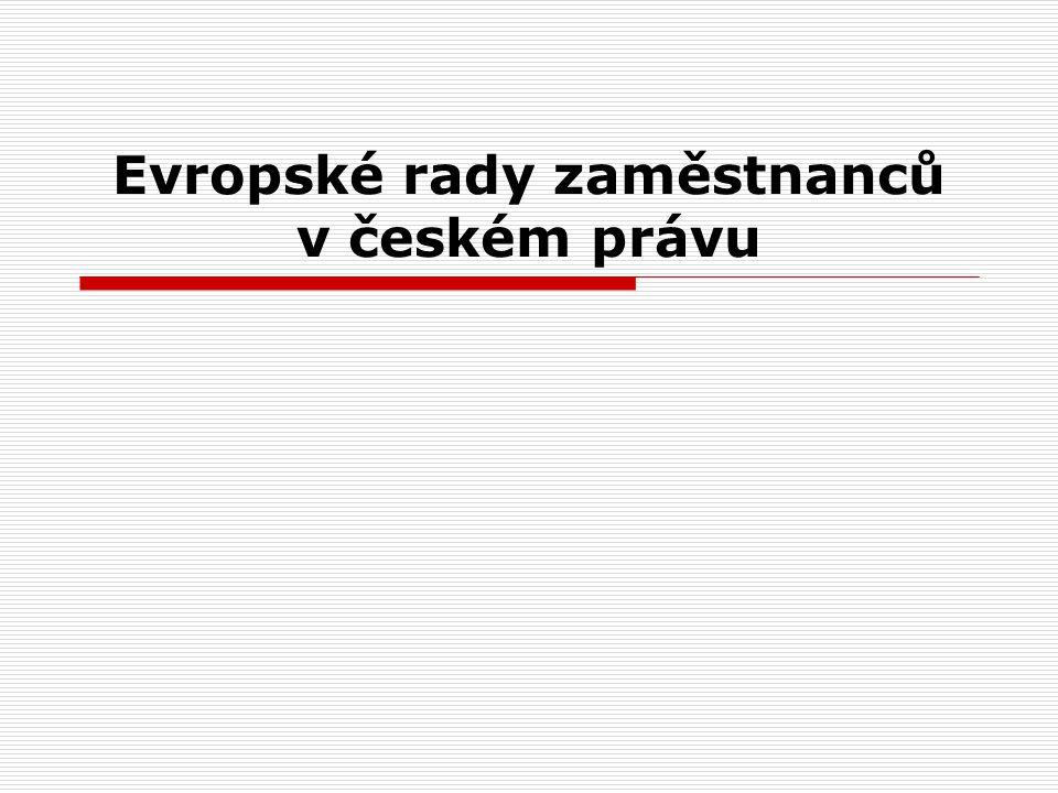 Evropské rady zaměstnanců v českém právu