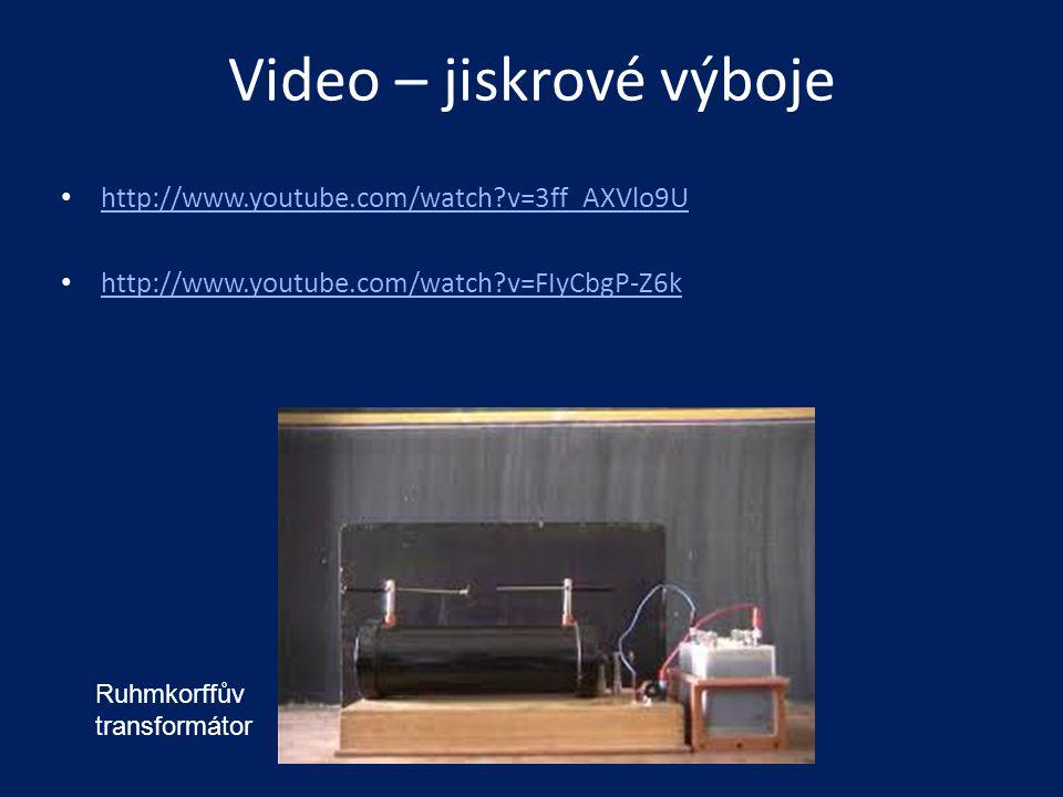 Video – jiskrové výboje • http://www.youtube.com/watch?v=3ff_AXVlo9U http://www.youtube.com/watch?v=3ff_AXVlo9U • http://www.youtube.com/watch?v=FIyCb