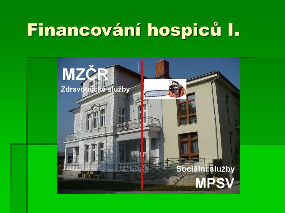 Financování hospiců I.
