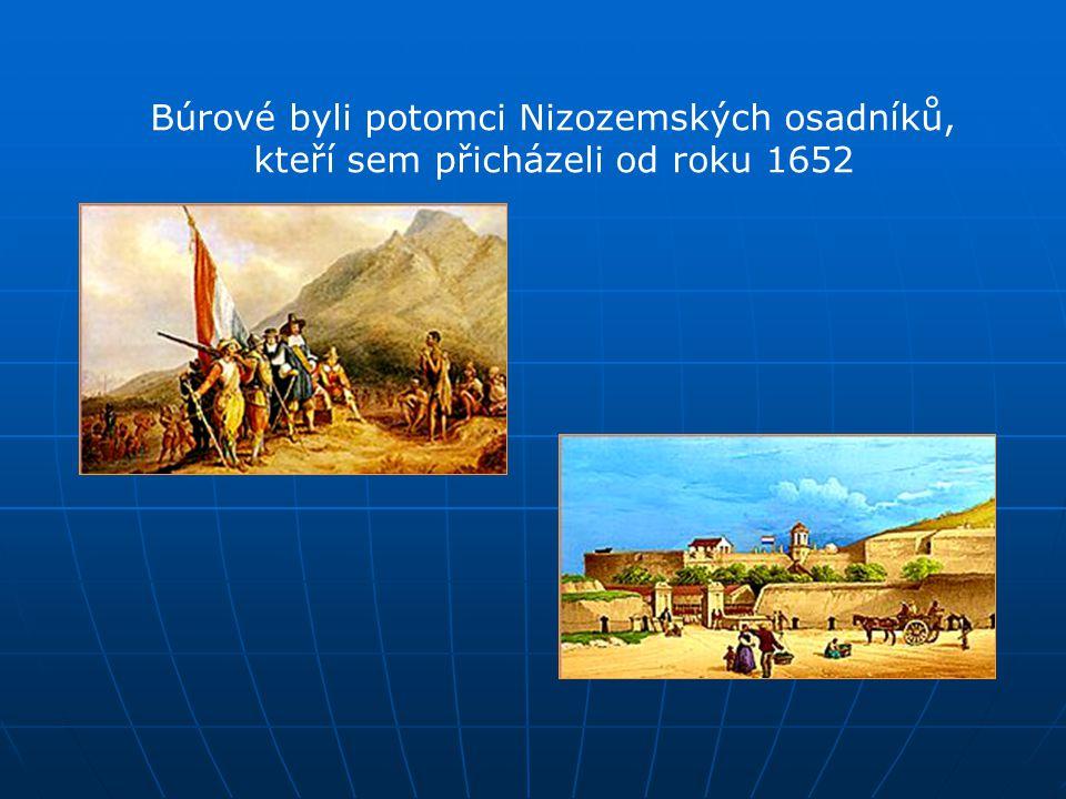 Búrové byli potomci Nizozemských osadníků, kteří sem přicházeli od roku 1652