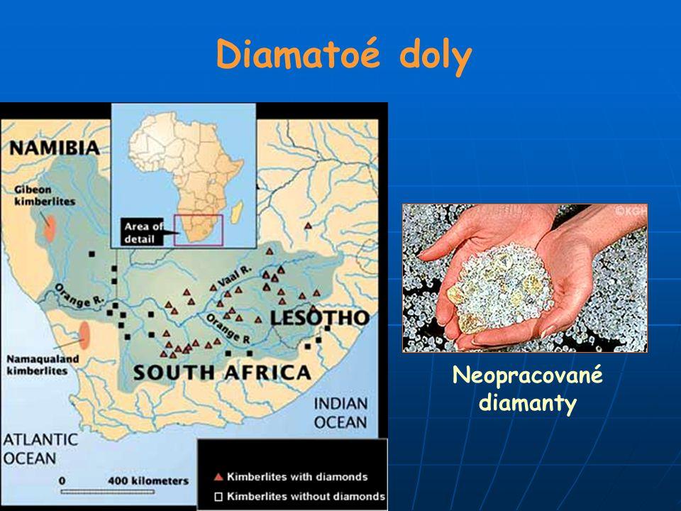 Diamatoé doly Neopracované diamanty