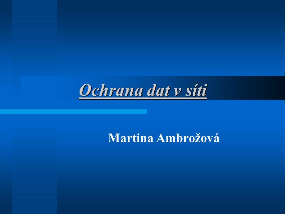 Ochrana dat v síti Martina Ambrožová