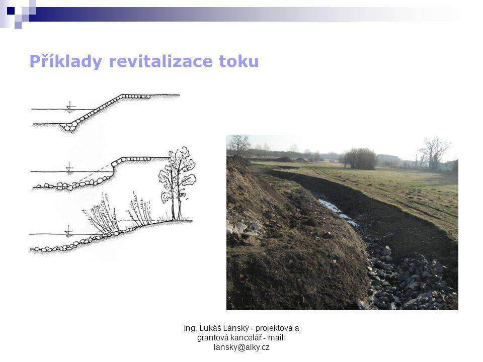 Ing. Lukáš Lánský - projektová a grantová kancelář - mail: lansky@alky.cz Příklady revitalizace toku