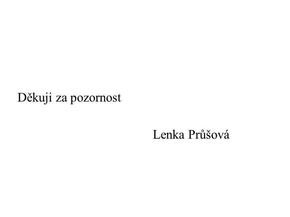 Děkuji za pozornost Lenka Průšová