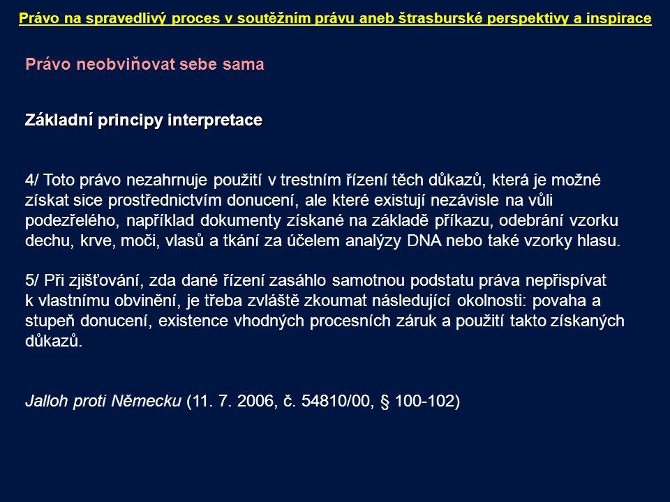 """Právo na ochranu obydlí Článek 8 Úmluvy (právo na respektování soukromého a rodinného života) """"1."""