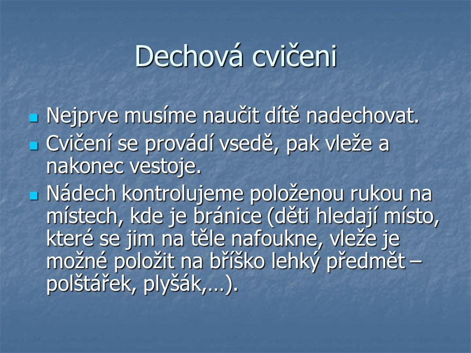 Hlasová hygiena  Jestliže nejsou u dítěte dodržována tzv.