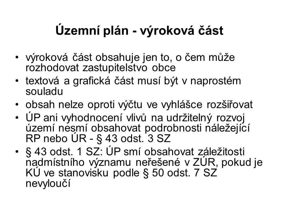 Podmínky pro využití ploch s rozdílným způsobem využití - příloha č.