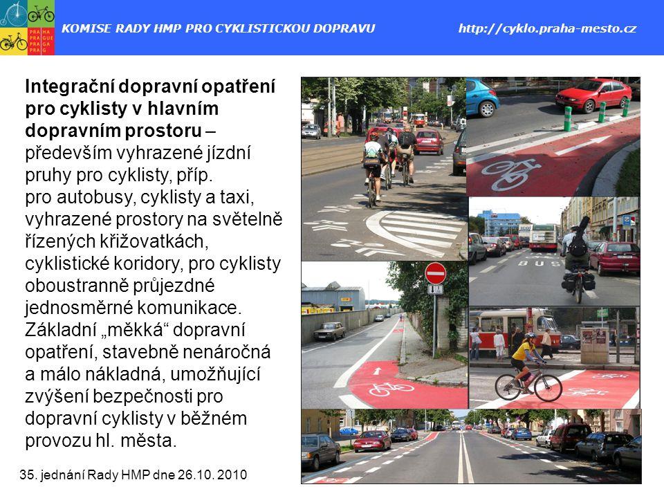 KOMISE RADY HMP PRO CYKLISTICKOU DOPRAVU http://cyklo.praha-mesto.cz 35.