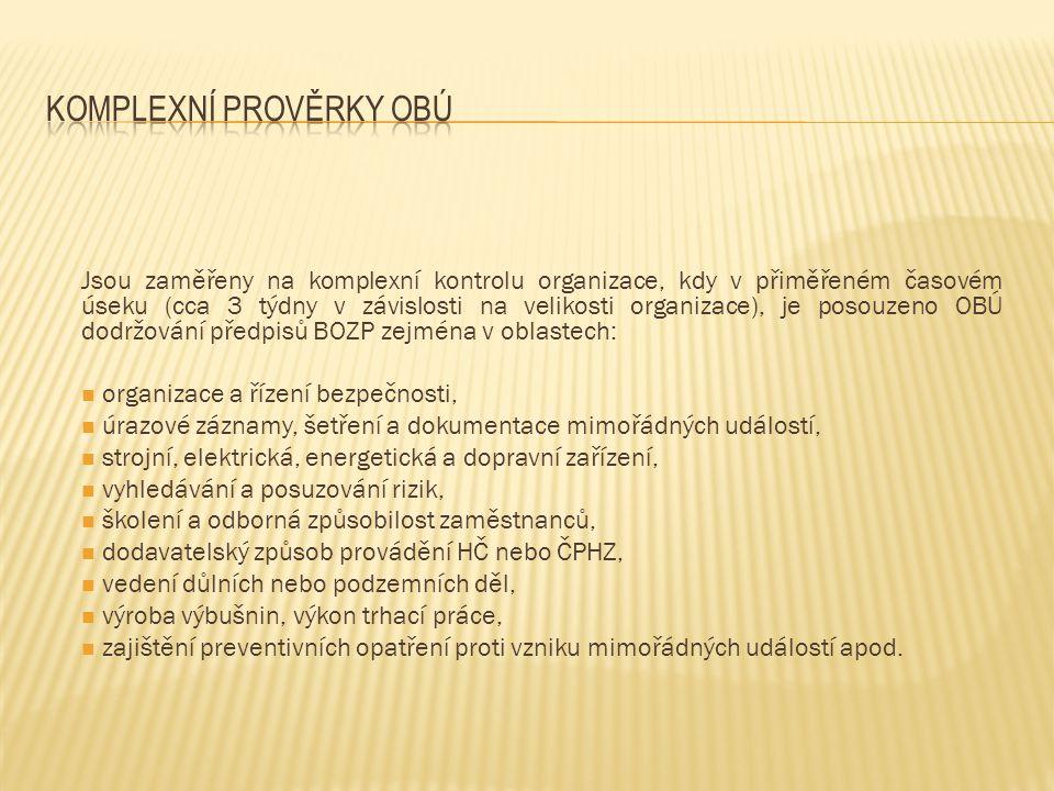 Jsou zaměřeny na vybranou oblast činnosti organizací (např.
