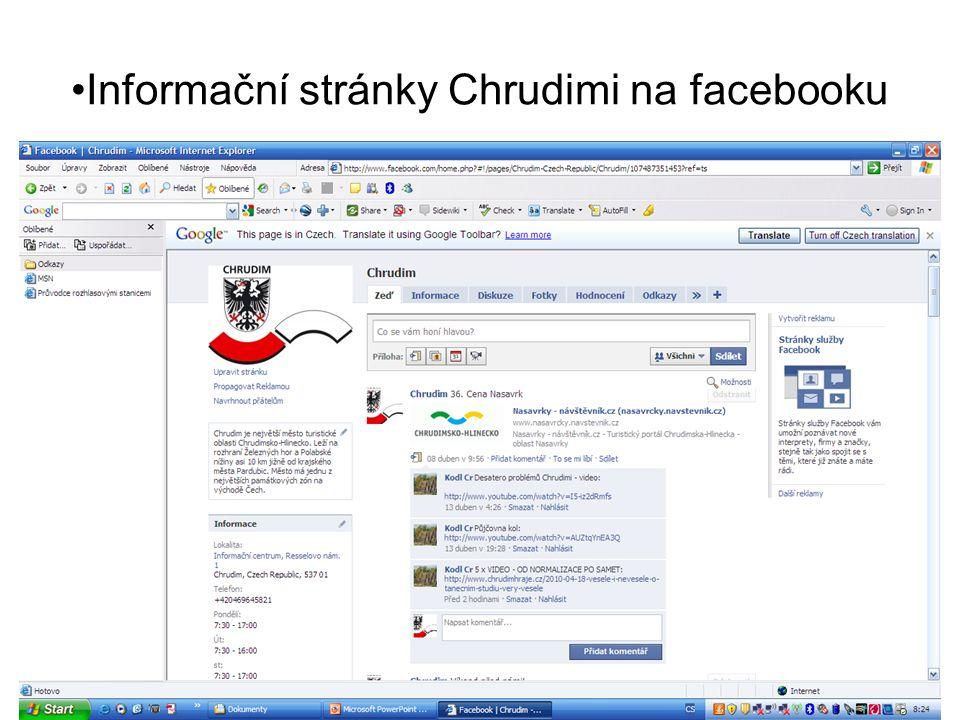 •Informační stránky Chrudimi na facebooku