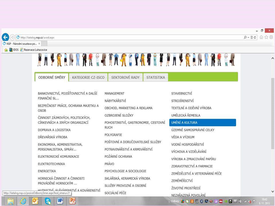 Knihovník – hotovo v NSP  Knihovník akvizitér  Knihovník katalogizátor  Knihovník pracovník správy fondů  Knihovník v přímých službách*  Referenční knihovník  Knihovník správce digitální knihovny (připraven)  Knihovník v knihovně pro děti