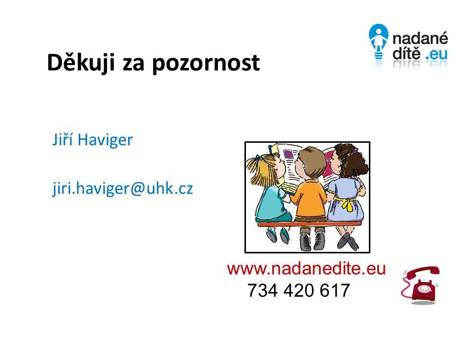 Děkuji za pozornost Jiří Haviger jiri.haviger@uhk.cz www.nadanedite.eu 734 420 617