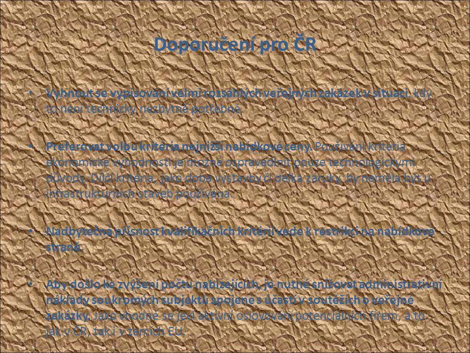 """2.1 NERV 2009: • """"To co stavíme dnes, není tím, co naše ekonomika nejvíc potřebuje • Viz NERV, Závěrečná zpráva, září 2009, viz http://www.vlada.cz/cz/media- centrum/dulezite- dokumenty/zaverecna-zprava-narodni-ekonomicke- rady-vlady-nerv-61645/http://www.vlada.cz/cz/media- centrum/dulezite- dokumenty/zaverecna-zprava-narodni-ekonomicke- rady-vlady-nerv-61645/ • Znepokojivý je i jiný závěr, podle kterého jsou české infrastrukturní zakázky dražší o 62% oproti cenové hladině v oblasti bytové výstavby a o 38% oproti cenám výstavby celkem, zatímco ve srovnatelném zahraničí (např."""