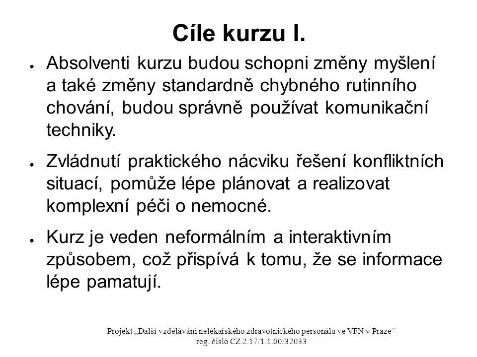 Cíle kurzu I.