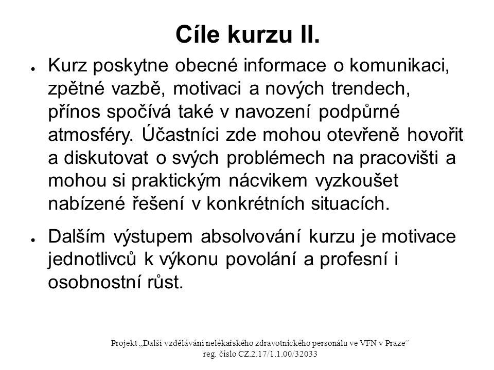 Cíle kurzu II.