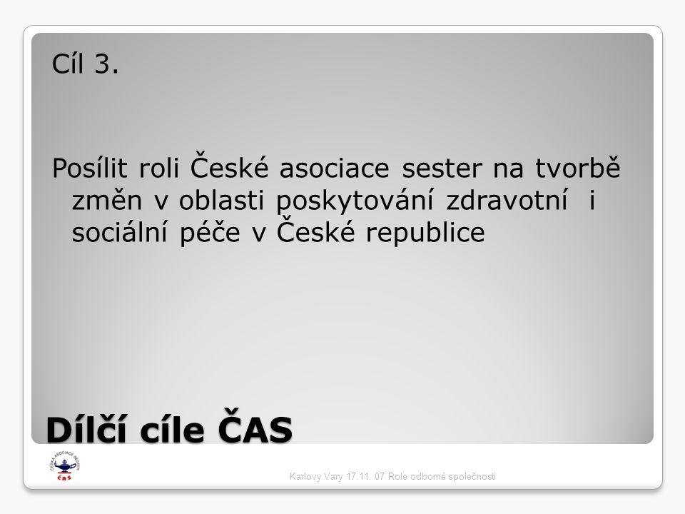 Dílčí cíle ČAS Cíl 3.