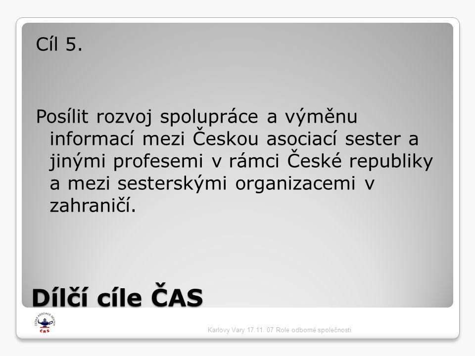 Dílčí cíle ČAS Cíl 5.