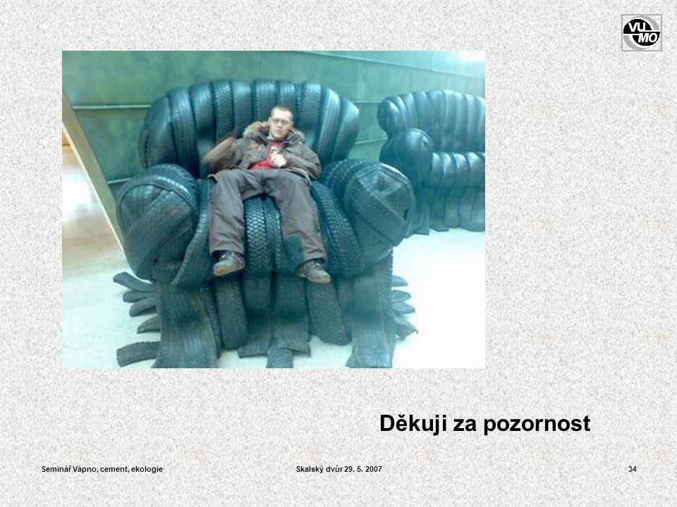 Seminář Vápno, cement, ekologieSkalský dvůr 29. 5. 200734 Děkuji za pozornost