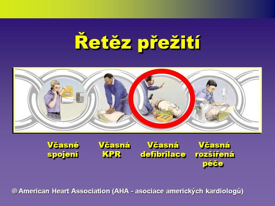 Pouze korekce VF (ventrikulární fibrilace) Defibrilací