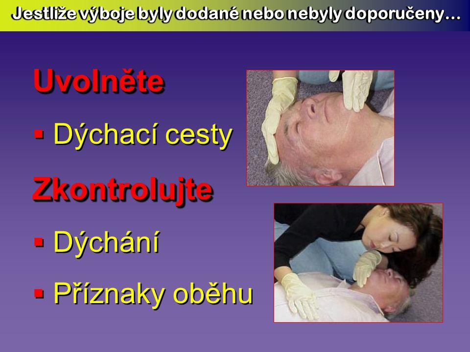 AED Plus (a jiné AED) AED Plus (a jiné AED) vytvoří léčebný výboj VÝHRADNĚ JEN TEHDY VÝHRADNĚ JEN TEHDY zjistí-li automatika přítomnost arytmie vhodné pro výboj AED Plus (a jiné AED) AED Plus (a jiné AED) vytvoří léčebný výboj VÝHRADNĚ JEN TEHDY VÝHRADNĚ JEN TEHDY zjistí-li automatika přítomnost arytmie vhodné pro výboj Šokové tlačítko bude funkční Šokové tlačítko nebude funkční fibrilace ostatní arytmie