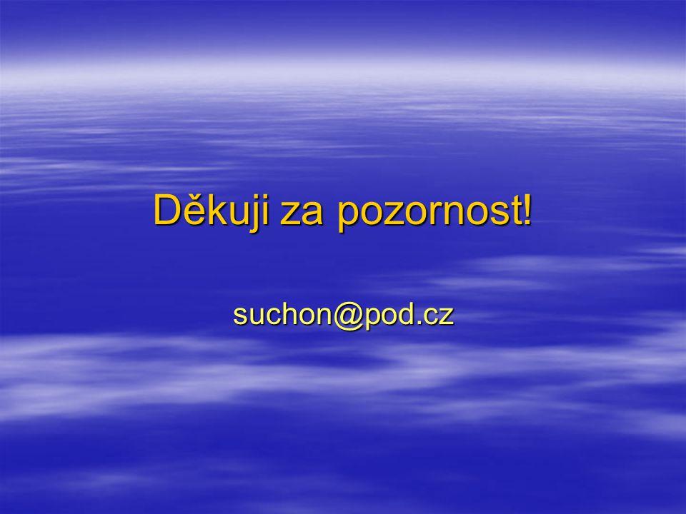 Děkuji za pozornost! suchon@pod.cz