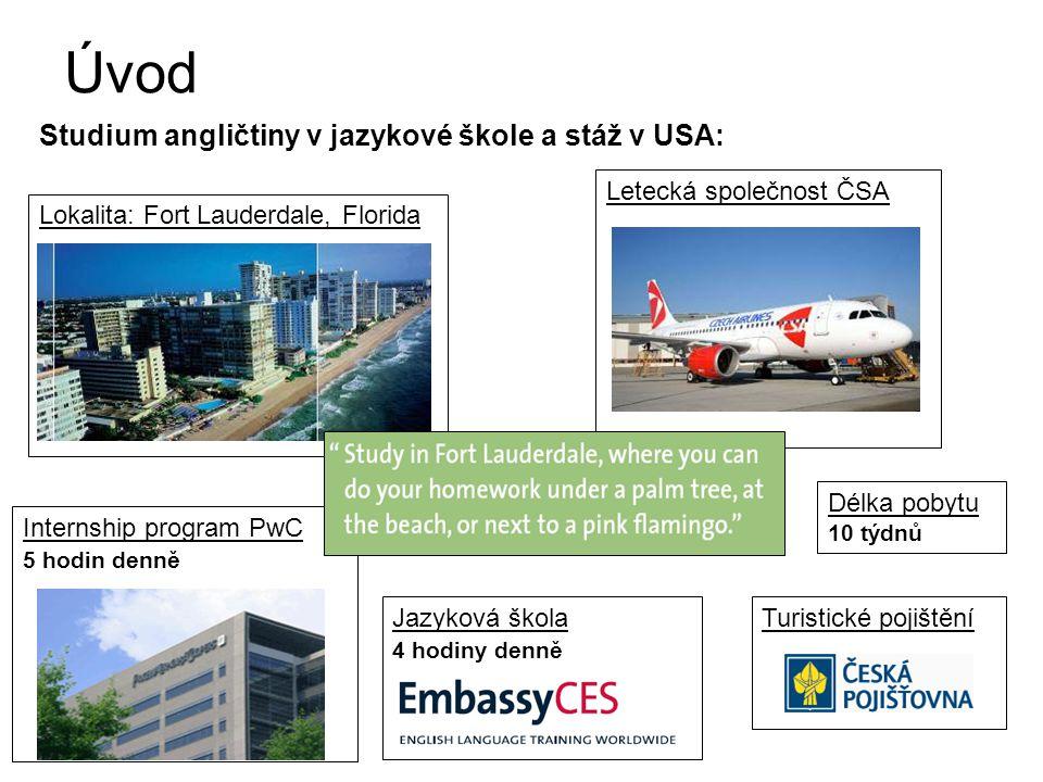Použité informační zdroje •Řízení projektů v MS Office Project –Kubálek T.,Kubálková M.; Computer Press •Škola: http://www.embassyces.comhttp://www.embassyces.com •Internship: www.pwc.comwww.pwc.com •Letenka: www.csa.czwww.csa.cz •Aktuální kurz: www.cnb.czwww.cnb.cz •Fort Lauderdale: http://ci.ftlaud.fl.us/http://ci.ftlaud.fl.us/