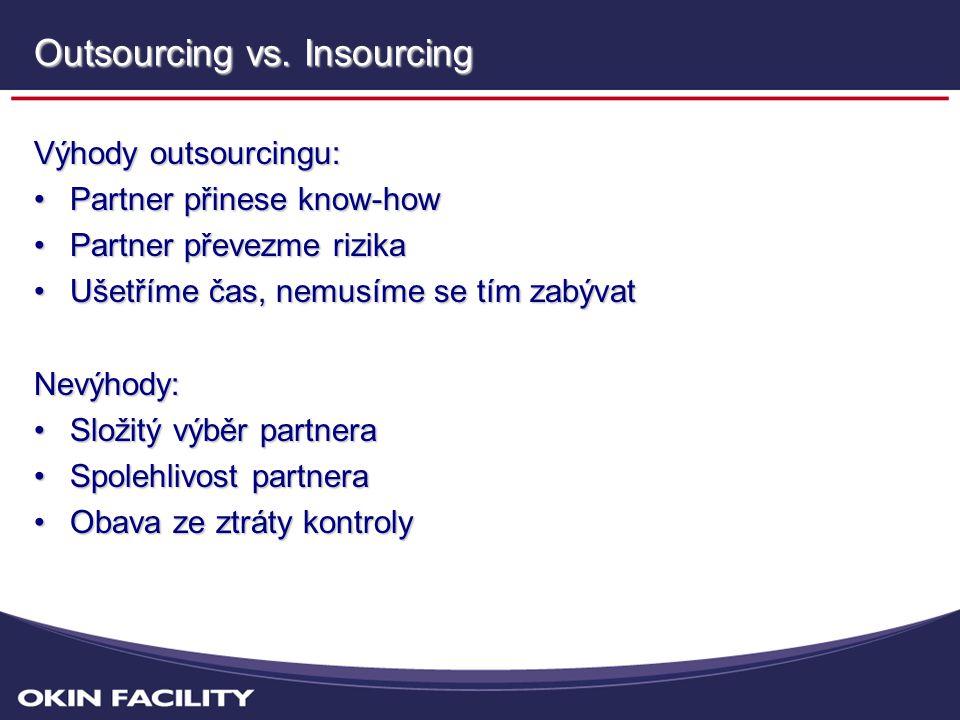 Outsourcing Rozhodnutí:OutsourcingPartner: Vyjma výrobní údržby, která zůstane ze strategických důvodů v Hamé