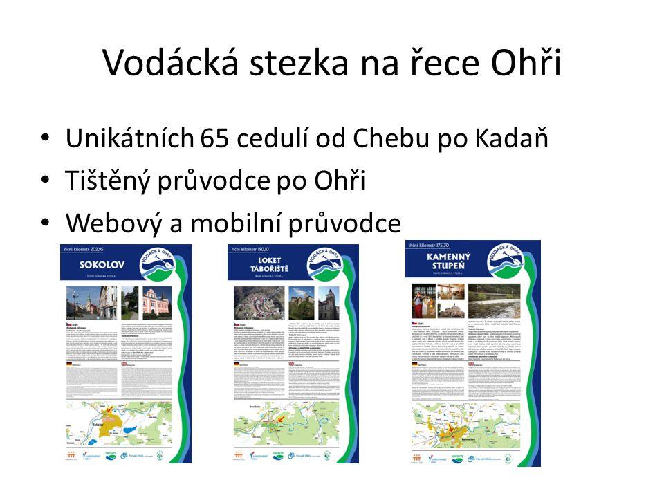 Vodácká stezka na řece Ohři • Unikátních 65 cedulí od Chebu po Kadaň • Tištěný průvodce po Ohři • Webový a mobilní průvodce