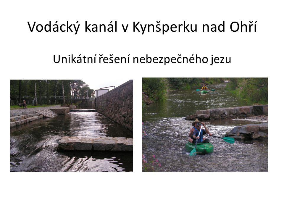 Vodácký kanál v Kynšperku nad Ohří Unikátní řešení nebezpečného jezu