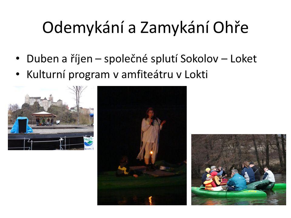 Odemykání a Zamykání Ohře • Duben a říjen – společné splutí Sokolov – Loket • Kulturní program v amfiteátru v Lokti