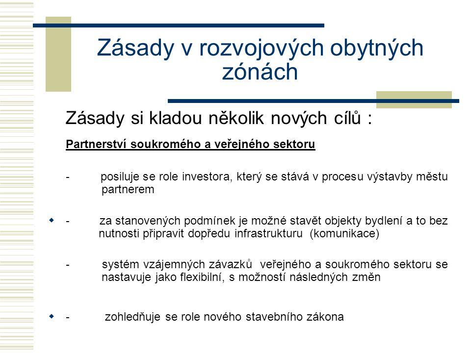 Zásady v rozvojových obytných zónách SMLOUVA O SPOLUPRÁCI program II: Optimální forma partnerství Závazek žadatele na zhotovení definitivního profilu pozemní komunikace event.