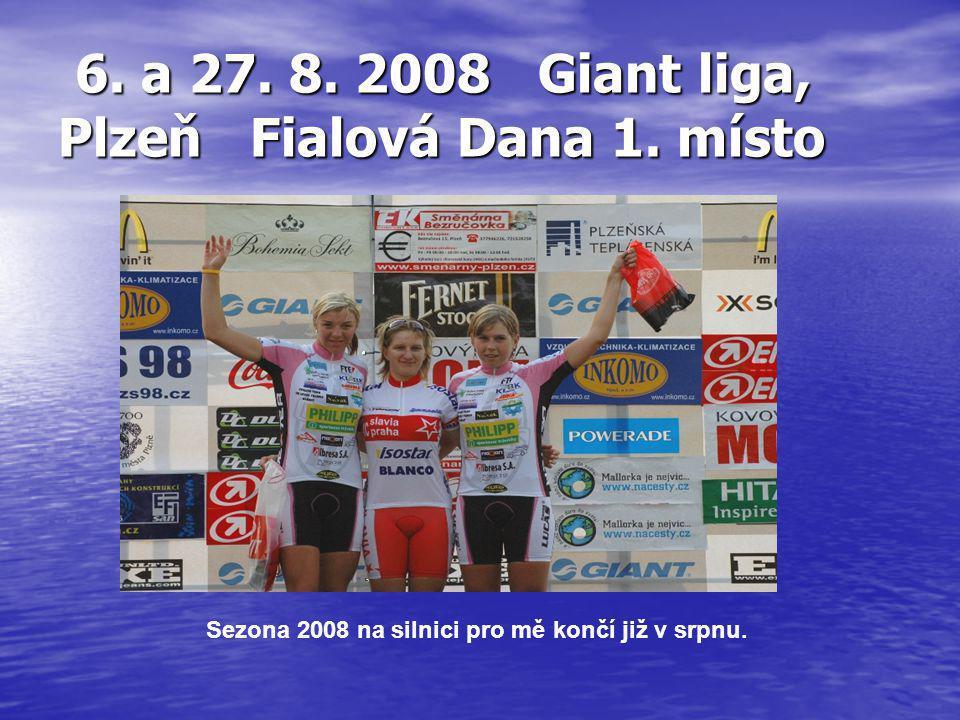 6. a 27. 8. 2008 Giant liga, Plzeň Fialová Dana 1. místo 6. a 27. 8. 2008 Giant liga, Plzeň Fialová Dana 1. místo Sezona 2008 na silnici pro mě končí