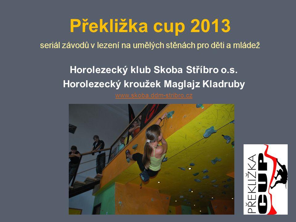 Překližka cup 2013 seriál závodů v lezení na umělých stěnách pro děti a mládež Horolezecký klub Skoba Stříbro o.s.