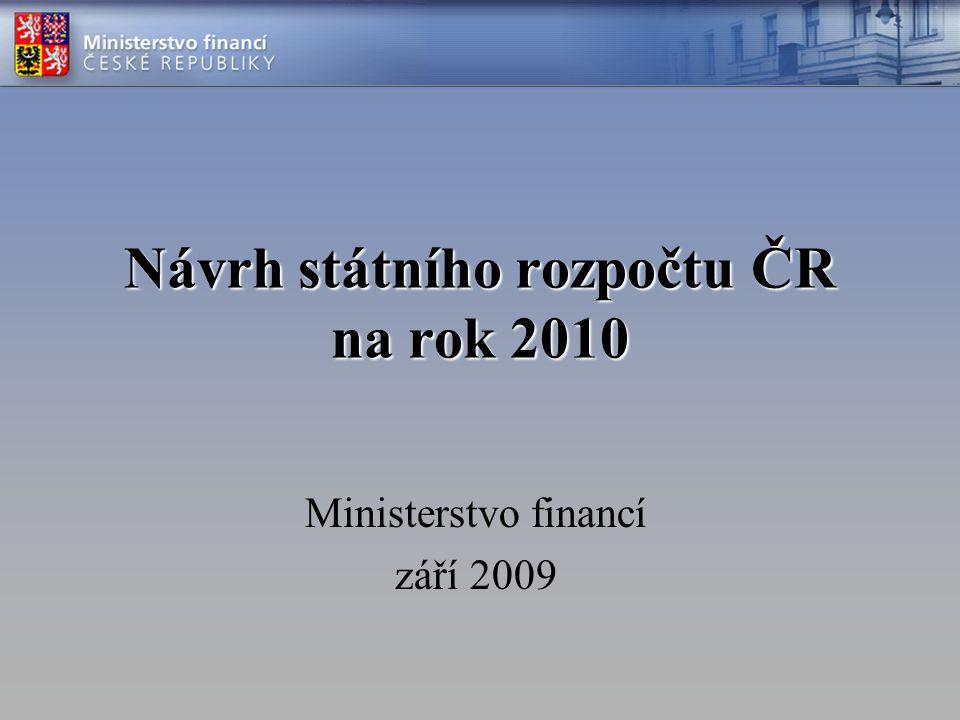 Návrh státního rozpočtu ČR na rok 2010 Ministerstvo financí září 2009