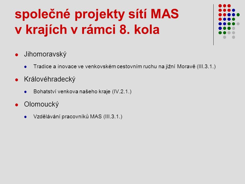 společné projekty sítí MAS v krajích v rámci 8.