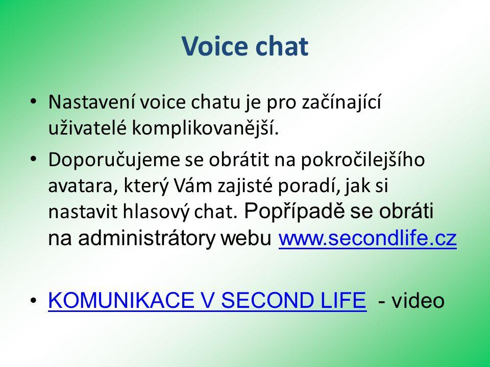 Voice chat • Nastavení voice chatu je pro začínající uživatelé komplikovanější.