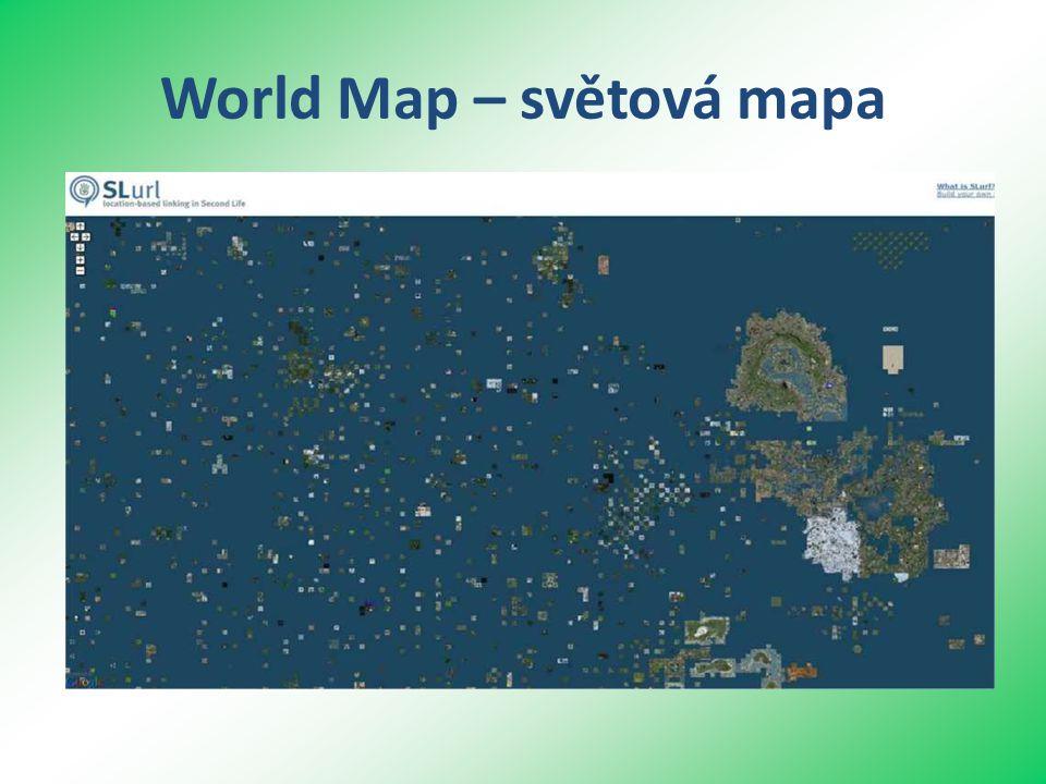 World Map – světová mapa