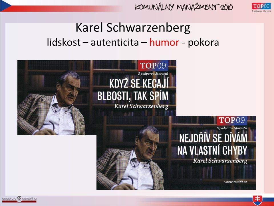Karel Schwarzenberg lidskost – autenticita – humor - pokora