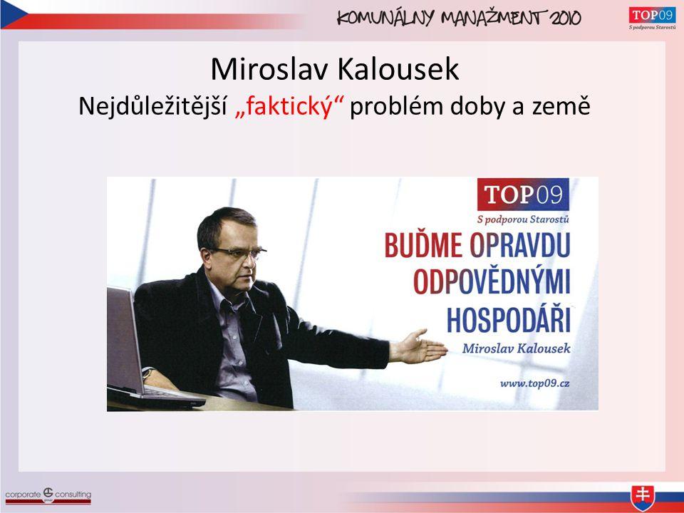 """Miroslav Kalousek Nejdůležitější """"faktický problém doby a země"""