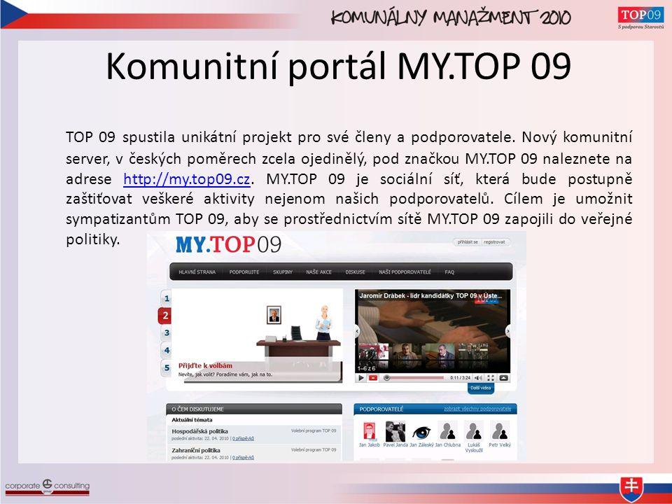 Komunitní portál MY.TOP 09 TOP 09 spustila unikátní projekt pro své členy a podporovatele.