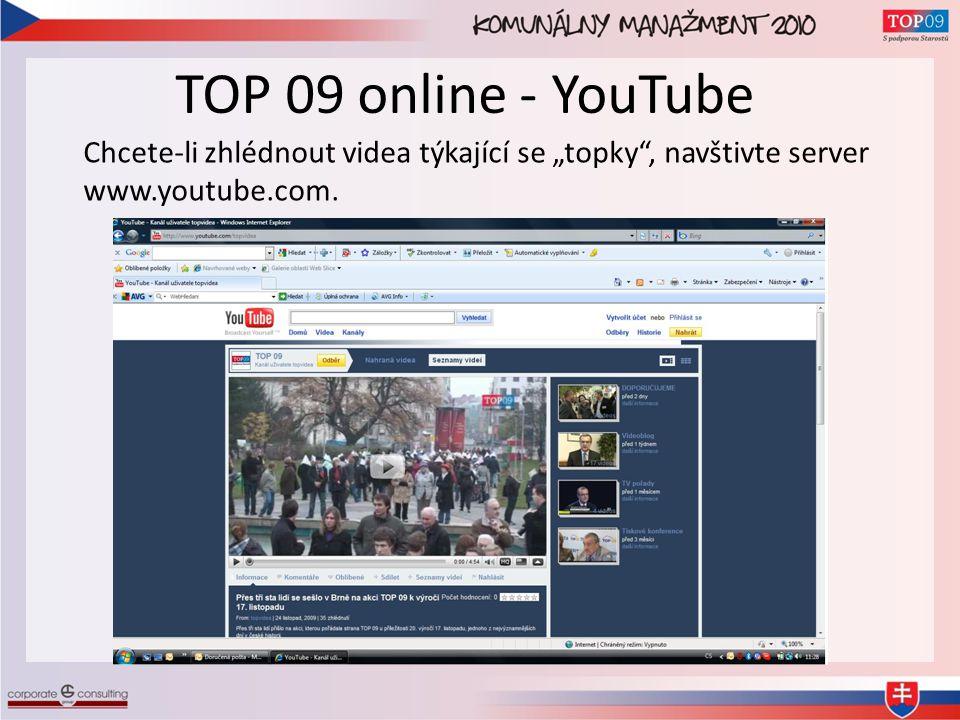 """TOP 09 online - YouTube Chcete-li zhlédnout videa týkající se """"topky , navštivte server www.youtube.com."""