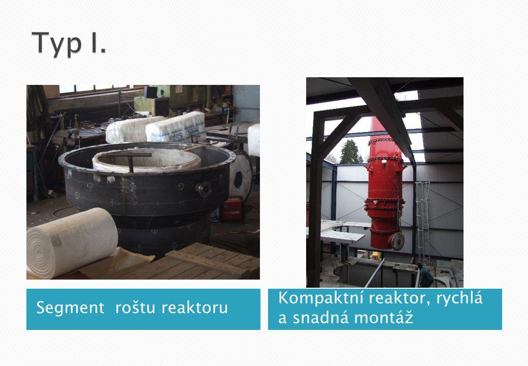 Segment roštu reaktoru Kompaktní reaktor, rychlá a snadná montáž